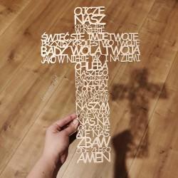 Krzyż z wyrazów modlitwy...