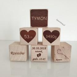 Metryczka - drewniane klocki