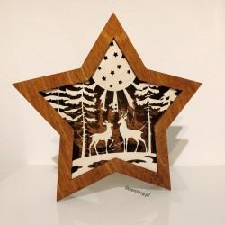 Lampka Led drewniana z...